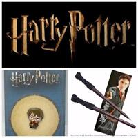The Noble Collection Official Genuine Harry Potter Wand Pen, Bookmark & Pin