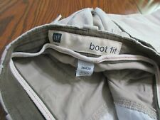 GAP JEANS BOOT FIT MENS 36 X 30 KHAKI COLOR