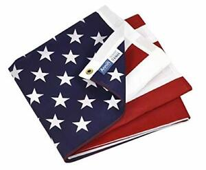 3x5 US American Flag Made100% In USA Poly/Cotton with Brass Grommets Model 19417