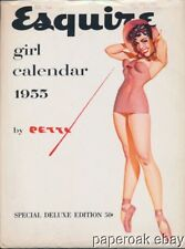 Original 1955 Esquire Petty Pin Up Full Calendar With Envelope