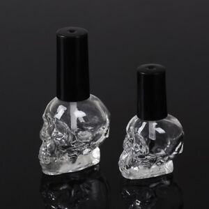 10/15ml Empty nail polish bottle clear glass with brush refillable steamed FGLBJ