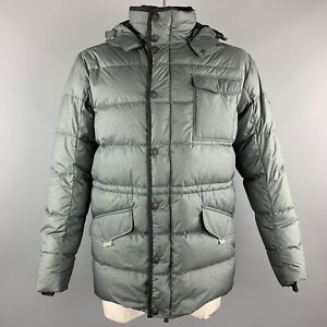 KJUS Size L Slate Quilted Polyester Zip & Snaps Jacket