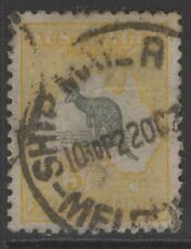 More details for australia sg13 1913 5/= grey & yellow used