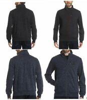 NEW Men's Gerry Full Zip Jacket Sweater Warm Mid Weight Layering Black Blue