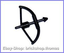 Lego Bogen Waffe schwarz - 4499 - Weapon Bow with Arrow black - NEU / NEW
