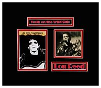 Lou Reed Original Autographed Photo Matted and Framed Ready to Hang