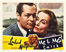 Mr. & Mrs. Smith 11X14 Lobby Card Alfred Hitchcock Carole Lombard