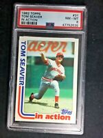 TOM SEAVER CINCINNATI REDS TOPPS 1982 #31 PSA 8 NM MINT HOF