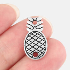 10x Pineapple Ananas Charm Pendant Connector Double Sided for Necklace Bracelet