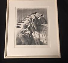 Harry Gottleib WPA Era Lithograph Framed BEAUTY ACADEMY Art Print NYC 1930s