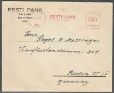 Estonia 1929 Bank Cover to Germany