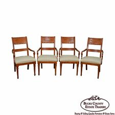 Lexington Regency Style Set Of 4 Cherry Wood Arm Chairs