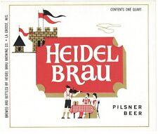 Heidel Brau Pilsner Beer Label