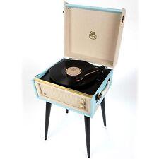 GPO UK BERMUNDA TURNTABLE VINYL RECORD PLAYER - Blue **NEW**