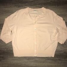 J. Jill XL Pastel Pink Cardigan Button Up Stretch Sweater Extra Large