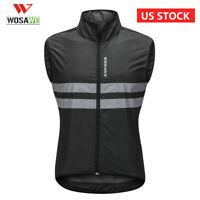 Reflective Cycling Vest Mens Windproof MTB Bike Jersey Bicycle Vest Gilet Hi Viz
