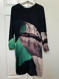 Mary Katrantzou printed top long sleeve silk 44