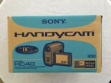 Used Sony Handycam DCR-HC40 Mini DV Camcorder with Camera bag and accessories