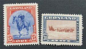 nystamps Greenland Stamp # 14.15 Mint OG H     S24x474