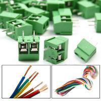 Practical 30pcs/lot 2 Way/Pin 5.0mm PCB Mount Screw Terminal Block Connector