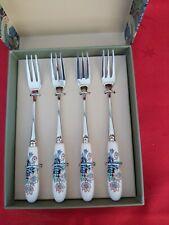 Spode William Morris & Co Strawberry Thief Set Of 4 Pastry Forks BNIB