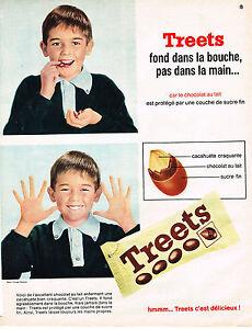 PUBLICITE ADVERTISING 064  1965  TREETS  cacahuètes enrobées de chocolat 2