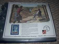 THE FIRST NATIONAL PARK Yellowstone Old Faithful Rocky Mountains Print/Stamp