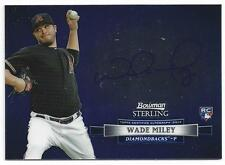 2012 Topps Bowman Sterling Wade Miley Auto Rookie Card RC