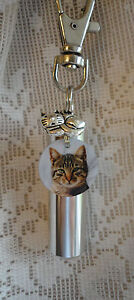 Cremation Jewelry, CAT, Urn, Add-a-Photo, *BONUS* Purse clip, Necklace, Keychain