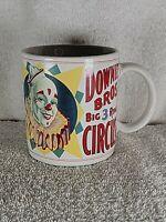 Flambro Circus Clown Coffee Mug Downie Bros Big 3 Ring Circus World Museum