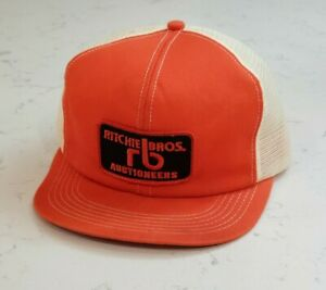 Vintage Ritchie Brothers Snapback Trucker Hat Mesh Patch Cap K Products Made USA