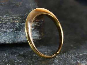 Silberring Schlicht Schmal Golden Glänzend Glatt Ring Silber 925 Verstellbar