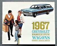 ORIGINAL 1967 CHEVROLET STATION WAGONS SALES BROCHURE ~ 16 PAGES ~ 67CW