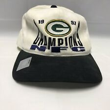 Green Bay Packers 1997 Nfc Champions Starter Hat Stains Discoloration See Pics