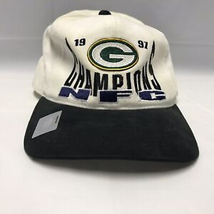Green Bay Packers 1997 Nfc Champions Starter Hat Used See Pics