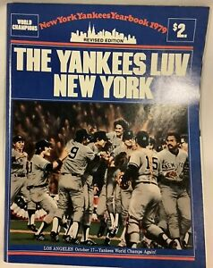 1979 Official Major League Baseball MLB Yearbook NY Yankees Near Mint Condition