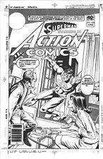 '80 LARGE  ACTION COMICS # 508 SUPERMAN LOIS L. PA KENT COVER PRODUCTION ACETATE