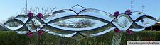 Bleiverglasung Bleiglas Facetten- Fensterbild mit Glasjuwelen  in Tiffany