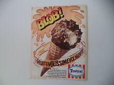 advertising Pubblicità 1979 GELATO BLOB TOSERONI