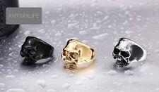 Skull Ring Stainless Steel 316L Gold/silver/Black