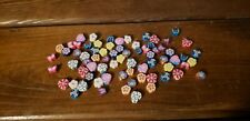 Beads (new) (72) FIMO/CLAY HEARTS, FLOWERS & BUTTERFLIES