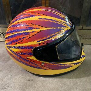 Vintage 90s Ski Doo Bombardier MXC Snowmobile Racing Shield Helmet Mens Large