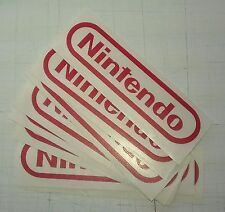 Nintendo RED retro logo sticker decal - Metallic Vinyl for NES DS 3DS Wii