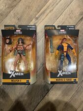 "2-SET 2019 Marvel Legends 6"" X-Men WEAPON X Wolverine + Forge *NO Caliban BAF*"