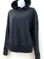 Lululemon Women's Dark Gray Hoodie Size 4 Running Gym Zip Pocket Thumb Holes A4