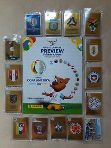 Panini Copa America 2021 Preview Empty Album + Full Set Loose Stickers