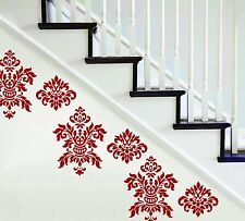 DAMASK RED Wall Decals  Room Decor Stickers Bedroom Decorations Wall Art Vinyl