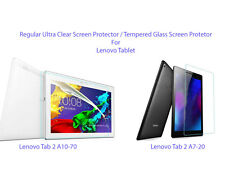 Plastic Clear/Tempered Glass Screen Protector For Lenovo Tab 2 A10-70 / A7-20