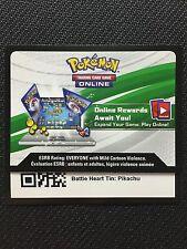 Pokemon TCG : XY BATTLE HEART TIN PIKACHU EX XY174 Online Code Card