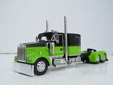 DCP 1/64 Scale W-900 Kenworth Flat Top Black/Lime Green (Tractor Only)